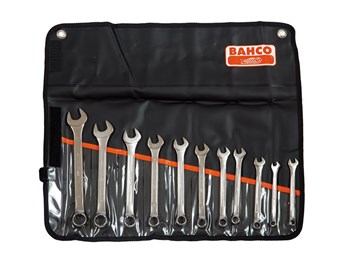 Chrome Polished Combination Spanner Set, 11 Piece