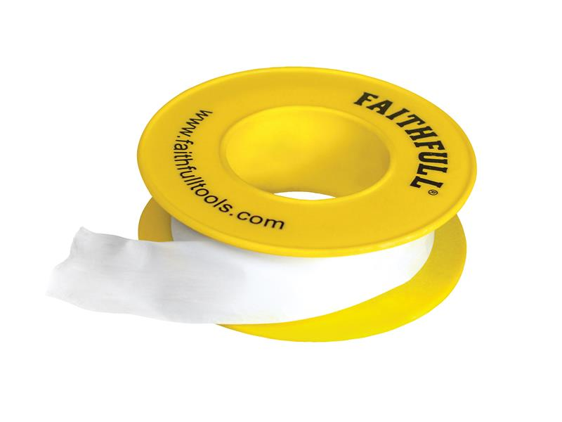P.T.F.E Gas Tape 12mm x 5m White (Pack 10)
