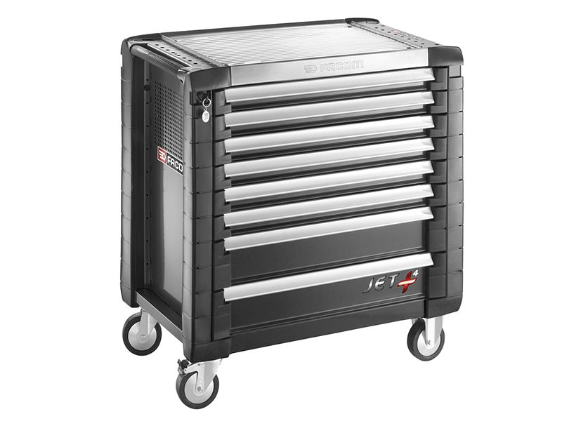 Jet.8GM4 Roller Cabinet 8 Drawer Black