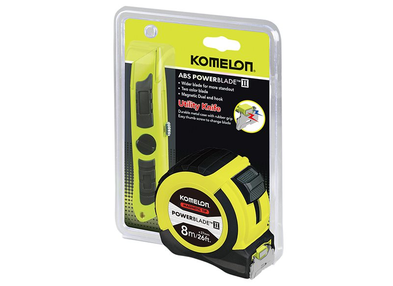 PowerBlade™ II Pocket Tape 8m/26ft (Width 27mm) with Knife