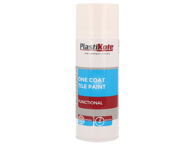 Trade One Coat Spray Tile Paint Gloss White 400ml