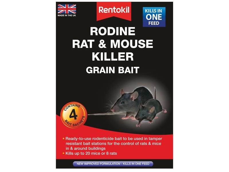 Rodine Rat & Mouse Killer Grain Bait