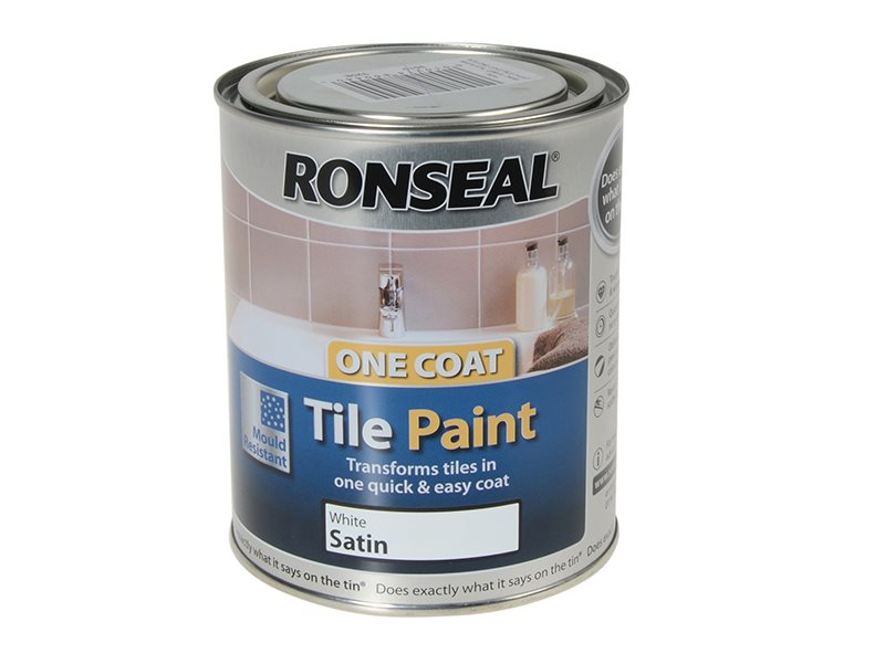 One Coat Tile Paint White Satin 750ml