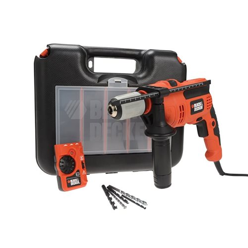 Black & Decker CD714EDSK Impact Hammer Drill With Free Detector 710W 240V