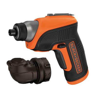 Black & Decker CS3652LC Cordless Screwdriver & Right Angle Attachment 3.6V Li-Ion