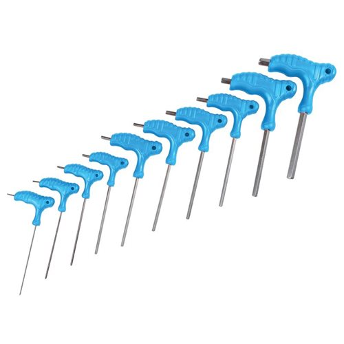 BlueSpot Tools Metric T-Handle Hex Key Set,10 Piece (2-10mm)