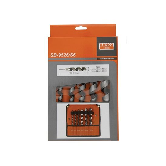 additional image for 9526 Combination Wood Auger Bit Set 6 Piece 10-25mm