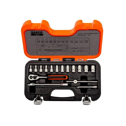 Bahco S160 Socket Set of 16 Metric 1/4in Drive