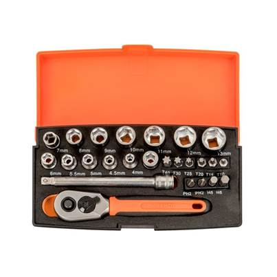 Bahco Sl25-disp-10 Socket Sets (display 10)