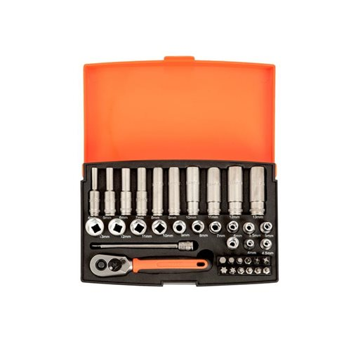 Bahco SL25L Socket Set of 37 Metric 1/4in Deep Drive