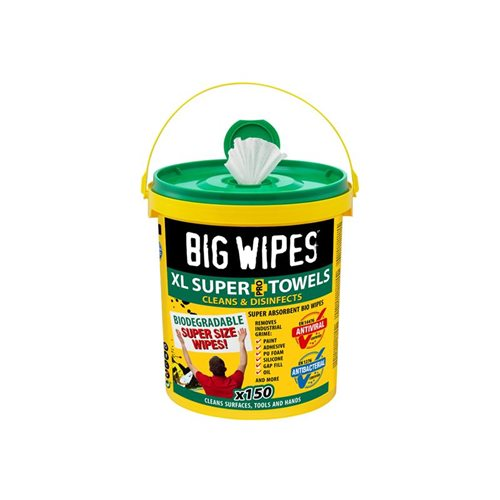 Big Wipes XL Super Towels Cleaning Wipes (Tub 150)