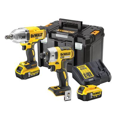 DEWALT DCK2088P2T XR Brushless Impact Twin Kit 18V 2 x 5.0Ah Li-ion