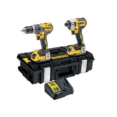 DEWALT DCK266D2B XR Brushless Bluetooth Twin Pack 18V 2 x 2.0Ah Bluetooth Li-ion