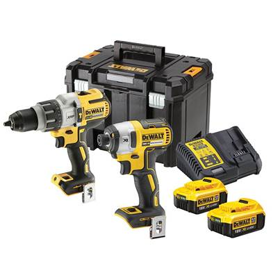 DEWALT DCK276M2T XR Brushless 3 Speed Twin Kit 18V 2 x 4.0Ah Li-ion