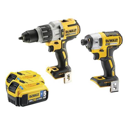 DEWALT DCK276P2B Brushless Bluetooth Twin Pack 18V 2 x 5.0Ah Bluetooth Li-ion