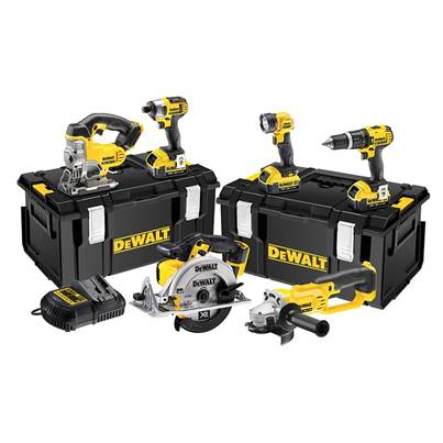 DEWALT DCK691M3 Cordless 2 Speed 6 Piece Kit 18V 3 x 4.0Ah Li-ion