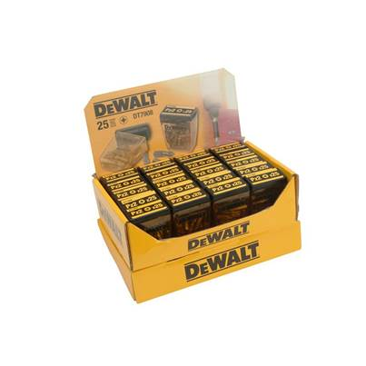 DEWALT DP74 Display Flip Top 50mm PH2 (20 packs of 15 bits)