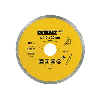 DEWALT DT3714 Diamond Tile Blade 110 x 20mm