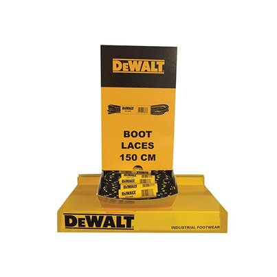 DEWALT Polyester/Cotton Boot Laces 150cm In Dispenser (60 Pairs)