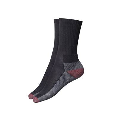 Dickies Cushion Crew Socks, Black (Pack 5)