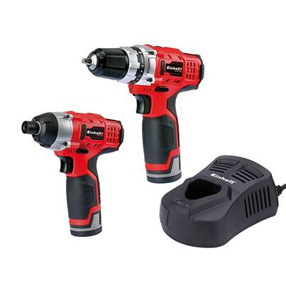 Einhell TC CD/CI Cordless Twin Pack 12V 2 x 1.5Ah Li-ion