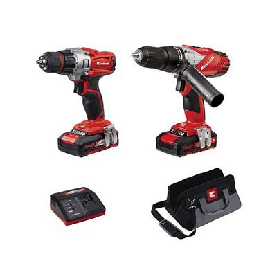 Einhell Power-X-Change Combi & Drill Driver Twin Pack 18V 2 x 1.5Ah Li-ion