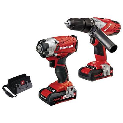 Einhell Power-X-Change Combi & Impact Driver Twin Pack 18V 2 x 1.5Ah Li-ion