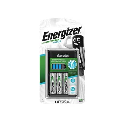 Energizer® 1 Hour Charger + 4 x AA 2300mAh Batteries