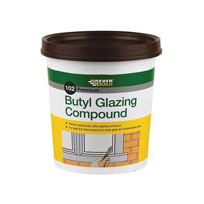 Everbuild 102 Butyl Glazing Compound Brown 2kg