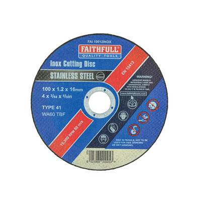 Faithfull Inox Cutting Disc