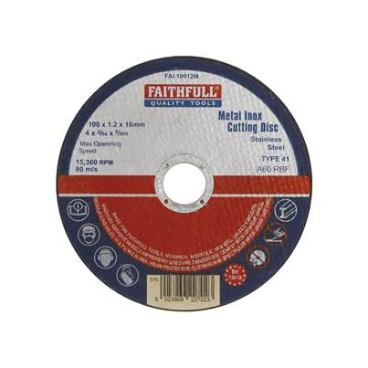 Faithfull Metal Cut Off Disc