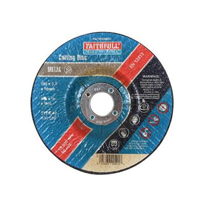 Faithfull Depressed Centre Metal Cut Off Disc