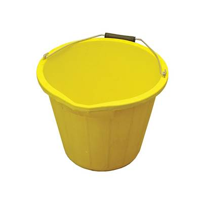 Faithfull 3 Gallon 14 litre Bucket - Yellow