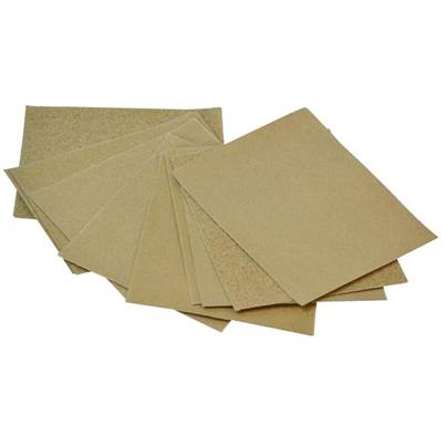 Faithfull Cork Block Glasspaper Sanding Sheets Assorted (Pack 10)