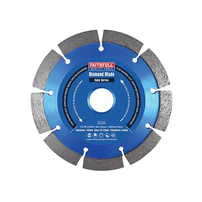 Faithfull Mortar Raking Diamond Blade 115 x 22mm