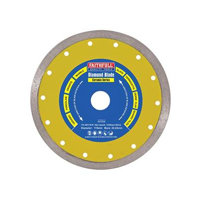 Faithfull Diamond Tile Blade Continuous Rim