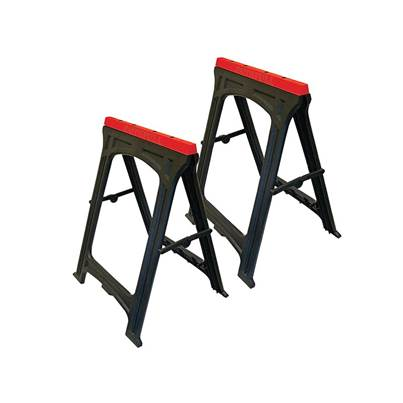 Faithfull Plastic Trestles Height 82cm x Length 57cm (Twin Pack)