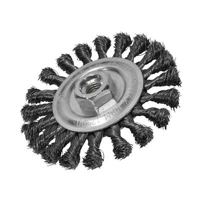 Faithfull Circular Wire Brush 115 x 12mm M14 Bore 2 0.35mm Wire