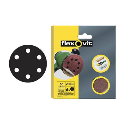 Flexovit Hook & Loop Sanding Discs 150mm