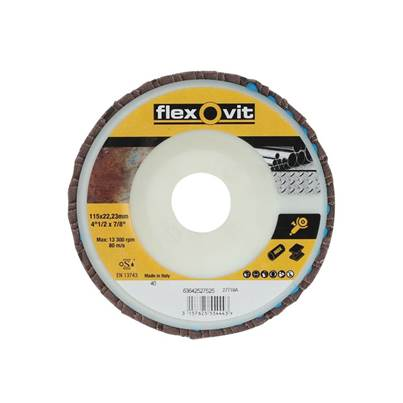 Flexovit Flap Discs 115mm