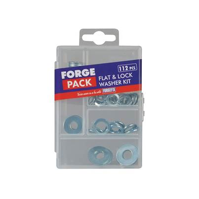 ForgeFix Flat Washer Kit ForgePack 112 Piece