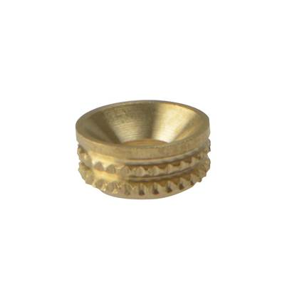 ForgeFix Screw Cup Socket, Polished Brass