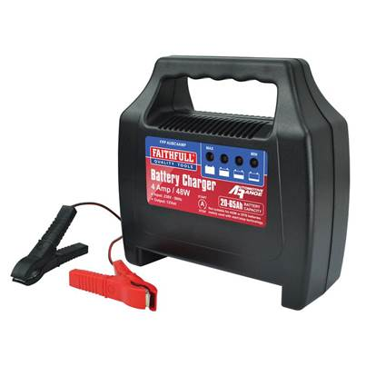 Faithfull Power Plus Vehicle Battery Charger 20-65ah 4 amp