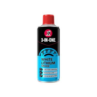 3-IN-ONE 3-IN-ONE White Lithium Spray Grease 400ml