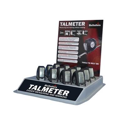 Hultafors Talmeter Tapes 3m (Width 16mm) Display Tray (12 Pieces)