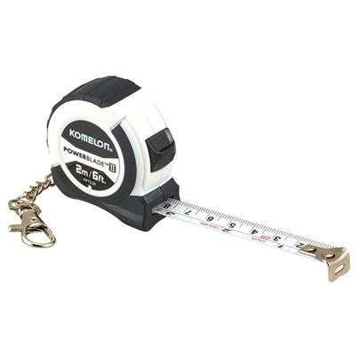 Komelon PowerBlade™ II Pocket Key Ring Tape 2m/6ft (Width 13mm)