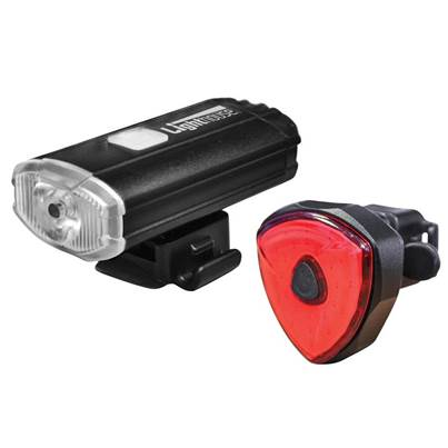 Lighthouse Elite Rechargeable LED Bike Light Set