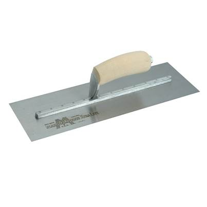 Marshalltown Cement Finishing Trowel, Wooden Handle