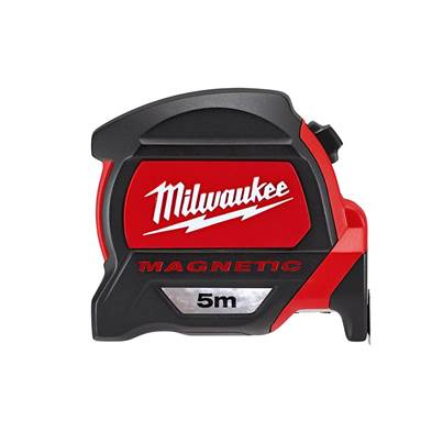Milwaukee Hand Tools Premium Magnetic Tape 5m (Width 27mm) Metric Only Loose