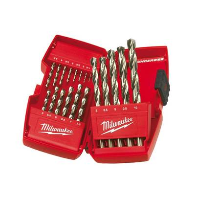 Milwaukee Power Tools HSS-G THUNDERWEB Metal Drill Bit Set  19 Piece 1-10mm